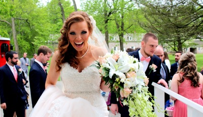 Smiling Bride on her Wedding Day